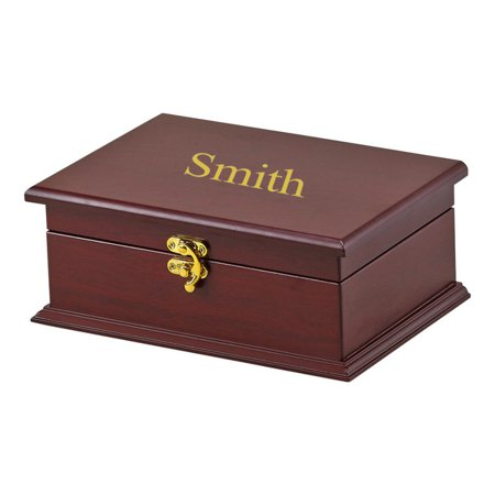 Personalized Rosewood Tea Box with Six Compartments ()