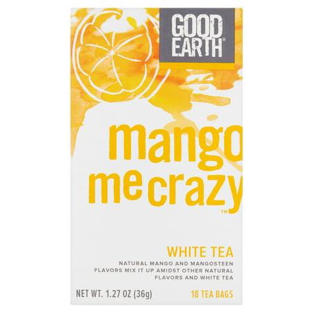 Good Earth Mango Me Crazy White Tea Bags, 18 count, 1.27 oz, 6
