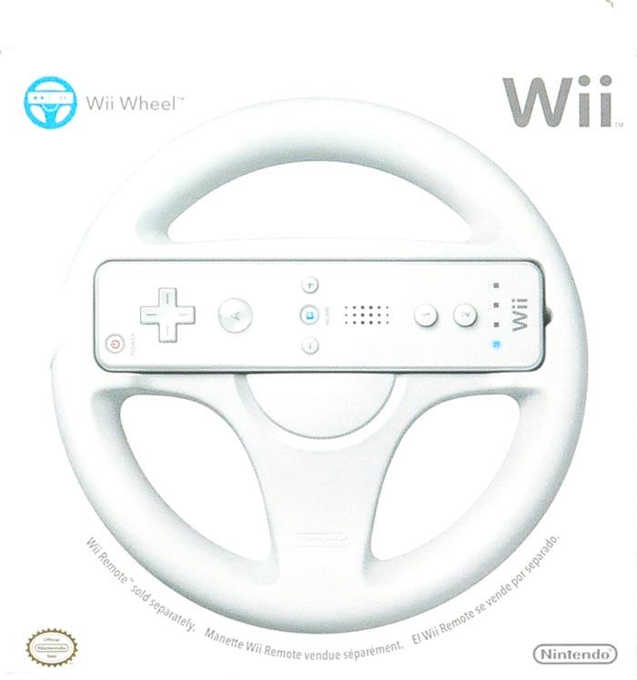 Wheel Controller for Nintendo Wii, White, RVLAHA