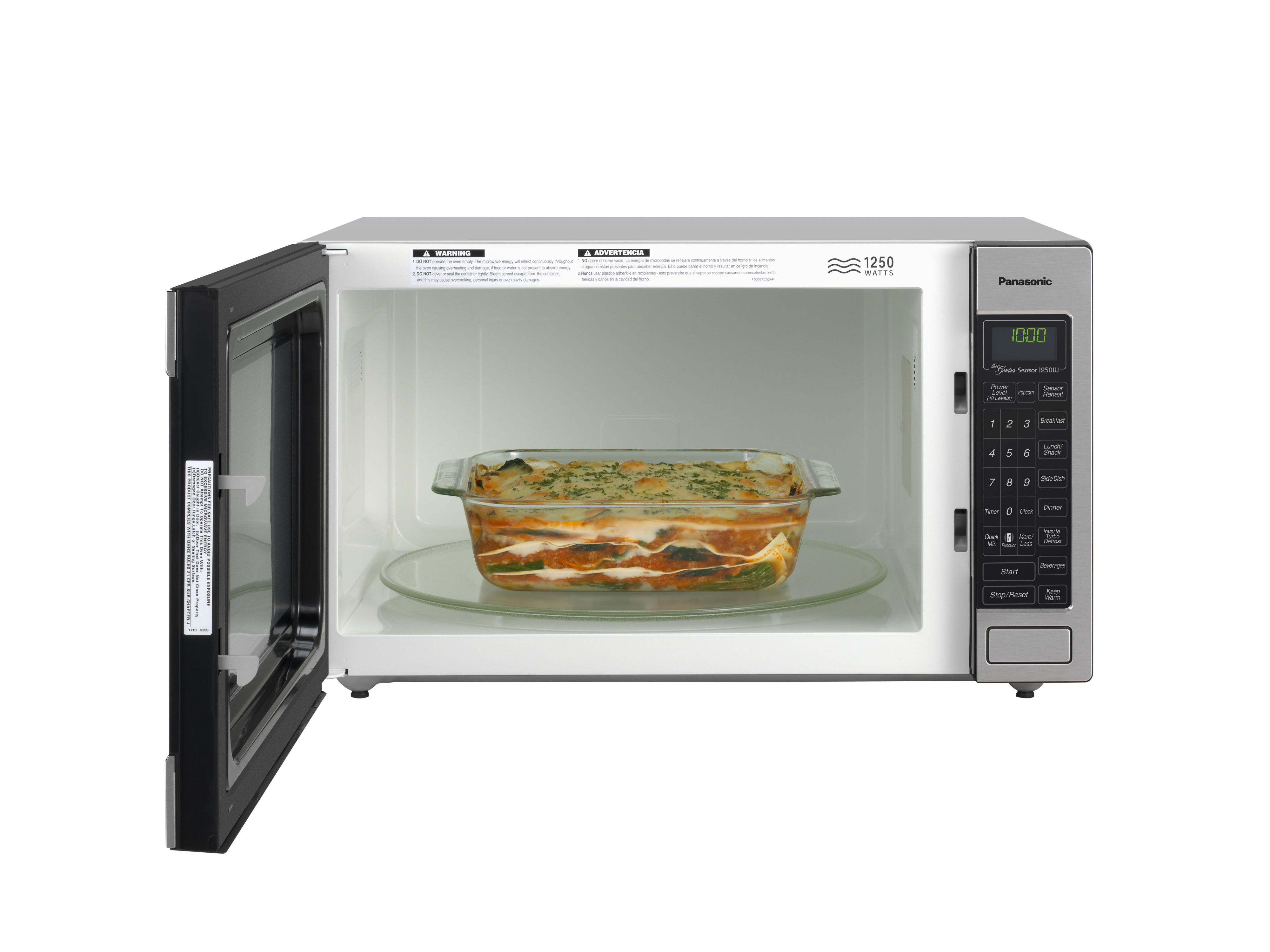 Panasonic 2 Cu Ft 1250 W Stainless Steel Microwave Oven