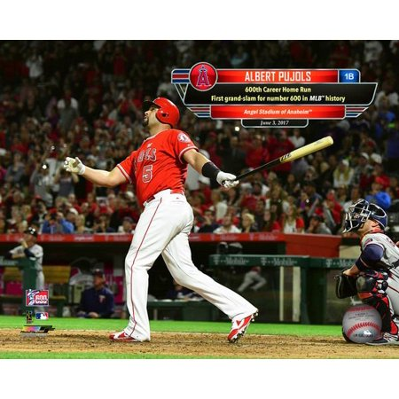 Albert Pujols hits his 600th Career Home Run-  June 3 2017 with Overlay Photo Print