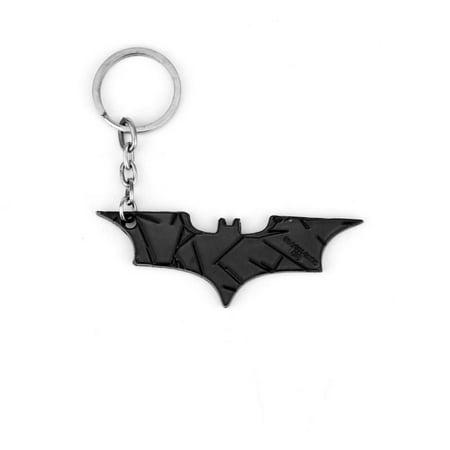 - Super Hero Dark Knight Batman Bat Metal Pendant Key Chain (Black)