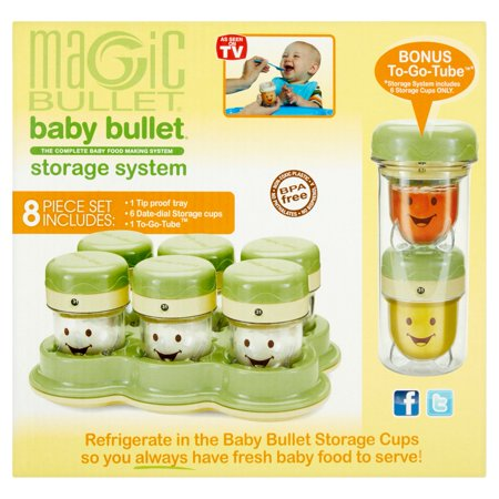 magic bullet baby bullet storage system kit 8 count. Black Bedroom Furniture Sets. Home Design Ideas