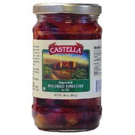 Sun Dried Tomatoes in Oil (Castella) 12oz (Best Tomatoes For Drying)