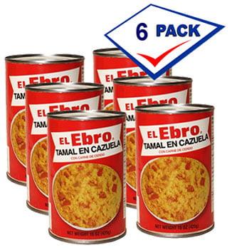 El Ebro Tamal en Cazuela with Pork 15 oz Pack of 6 by