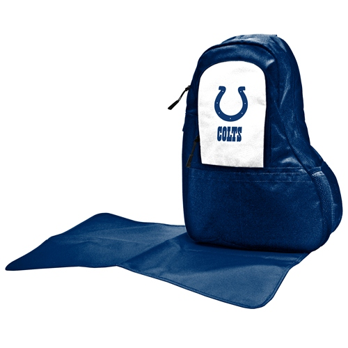 NFL Diaper Bag by Lil Fan, Sling Style - Indianapolis Colts