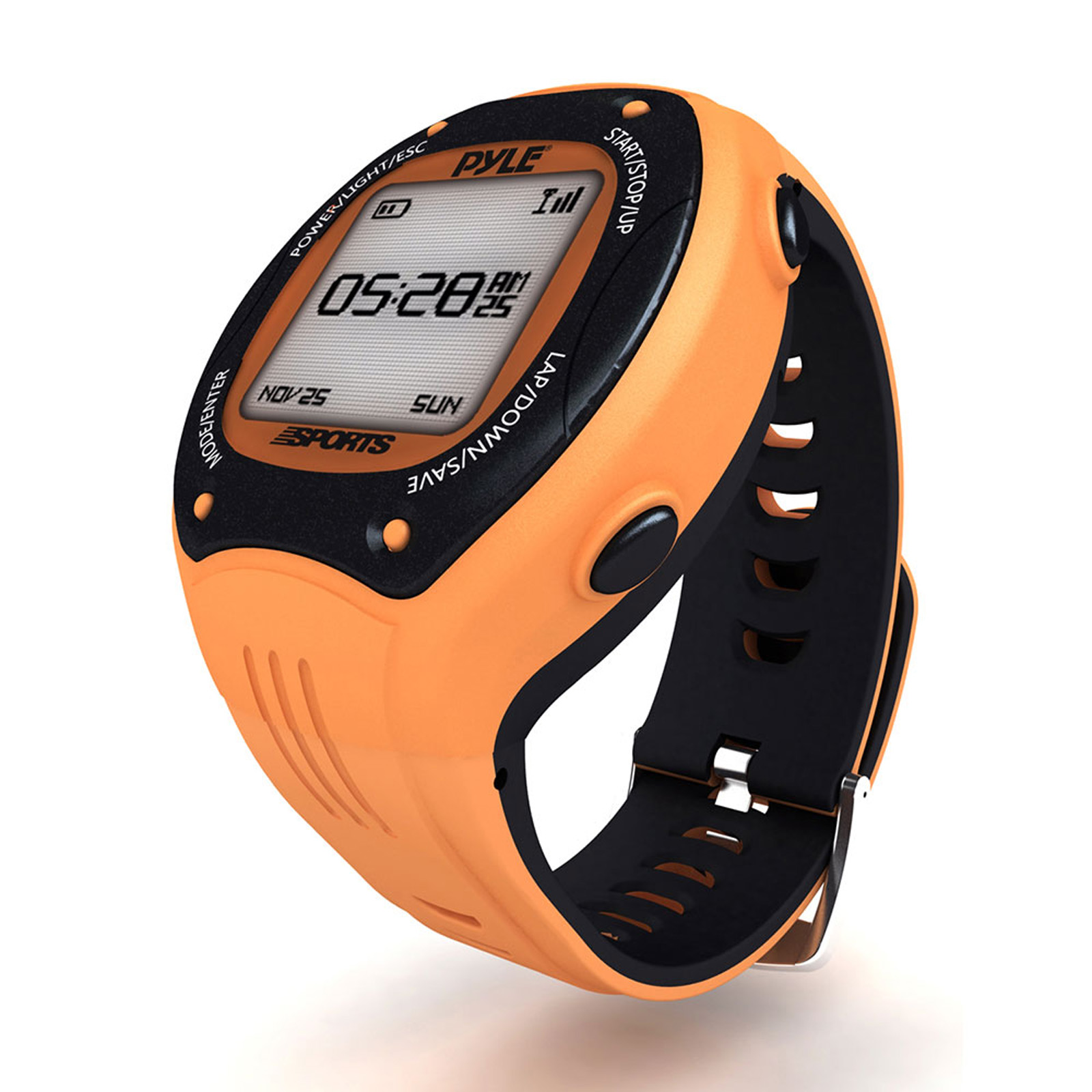 Pyle Multi-Function LED Sports Training Watch with GPS Navigation (Orange Color)