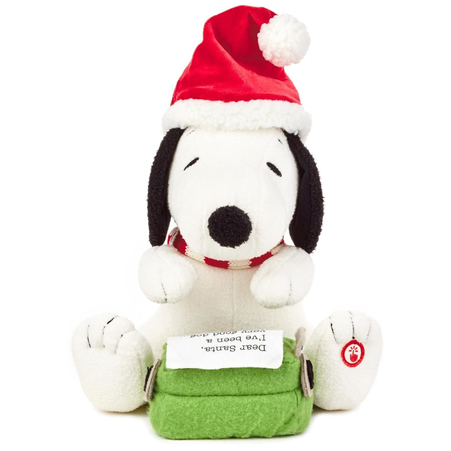 Hallmark Peanuts Snoopy S Letter To Santa Stuffed Animal With Sound