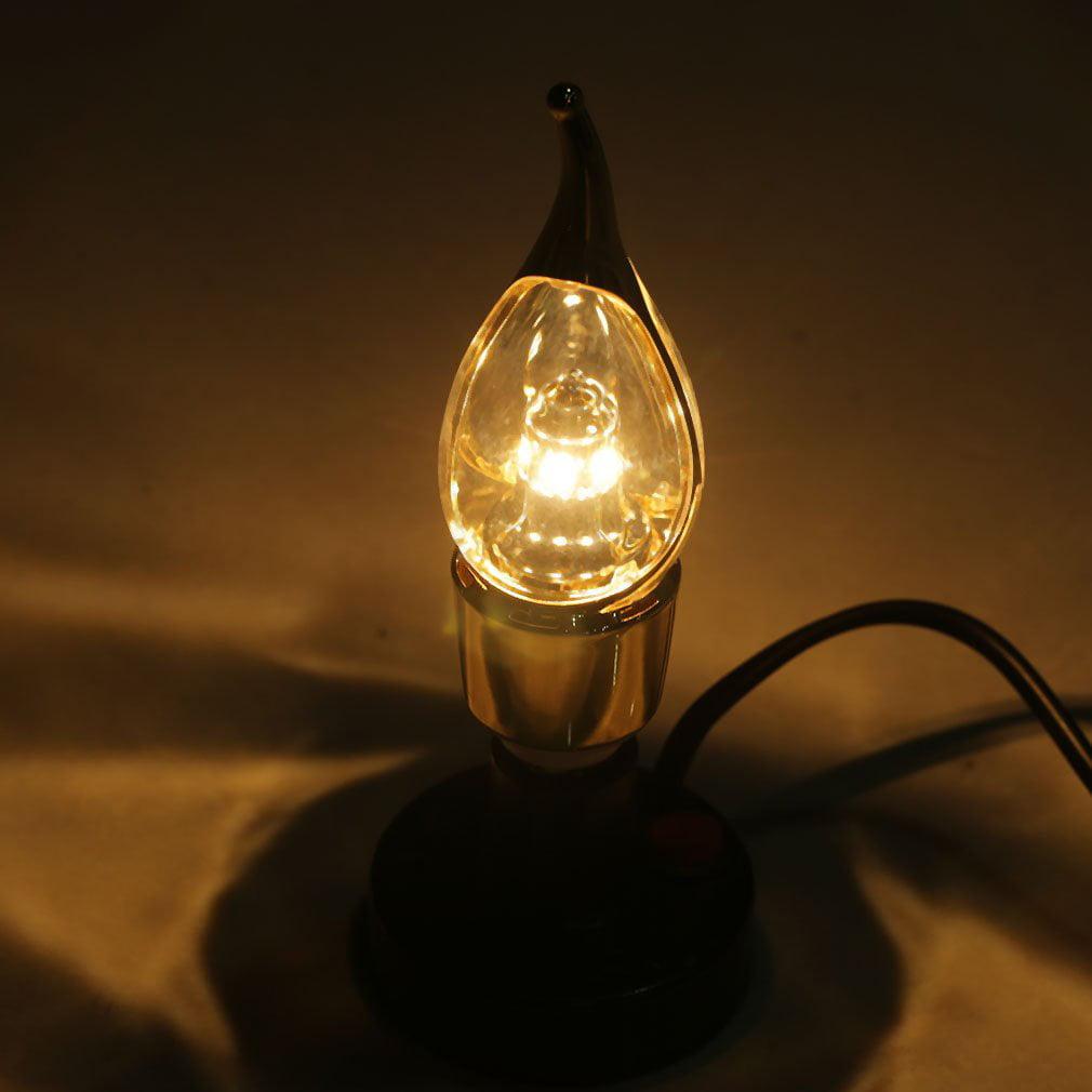 OUTAD 1pc 90V-260V E14 3W White/Warm White LED Energy Saving Candle Bulb Lamp Light