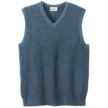 Kingsize Men's Big & Tall Shaker Knit V-neck Sweater Vest Knit Sweater Vest