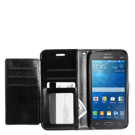 new concept 3ecb4 a6b92 Samsung Galaxy Grand Prime Case, by Insten Book-Style Leather [Card ...