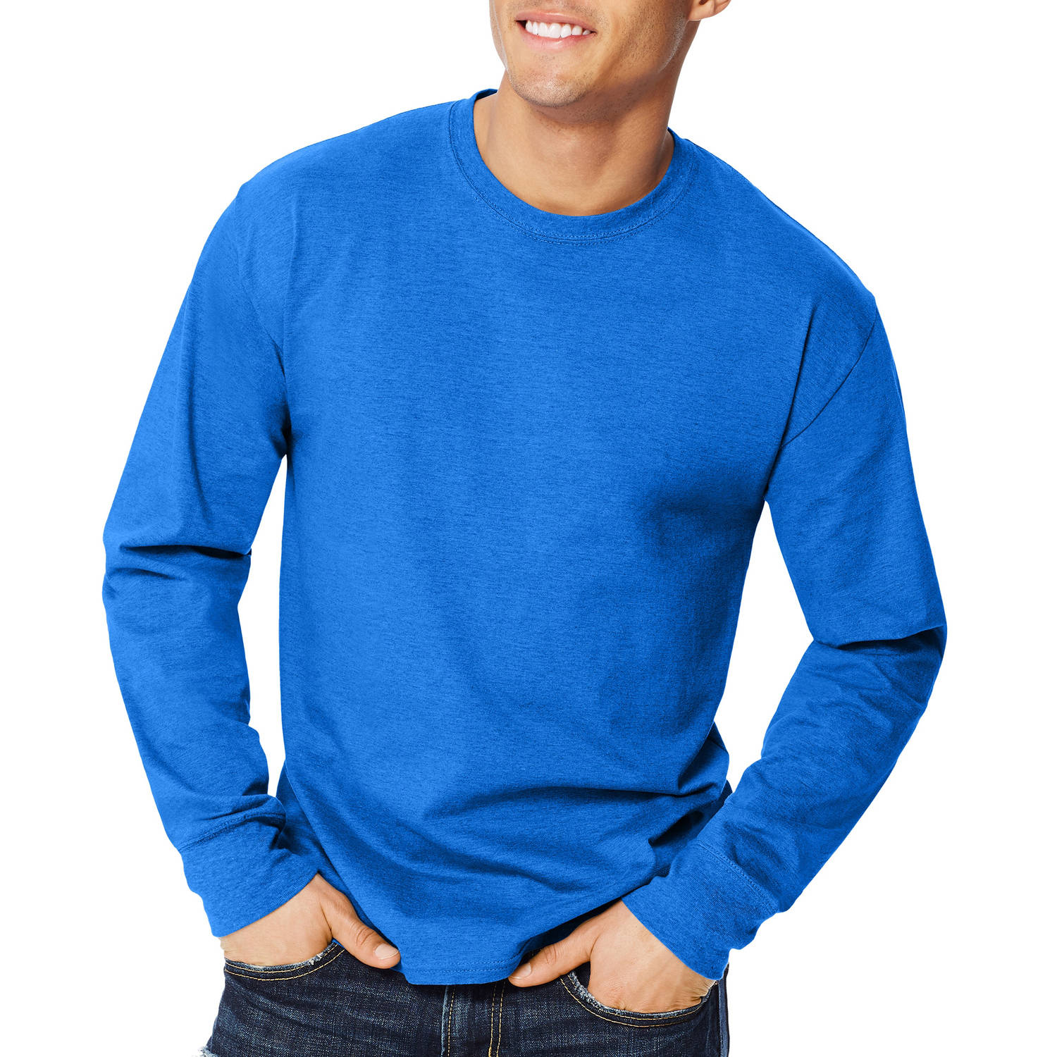 Hanes Big Men's X-temp Long Sleeve T-shirt