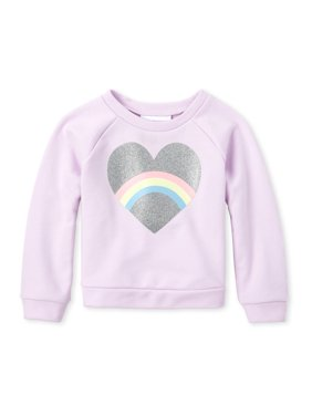The Children's Place Baby & Toddler Girl Rainbow Heart Sweatshirt