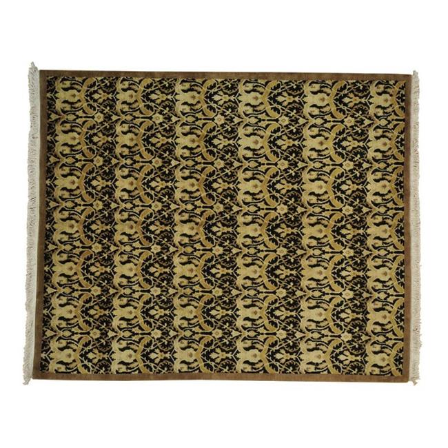 Rugs Sh21783 8 X 10 Ft Modern Nepali Black Gold 100 Wool Hand
