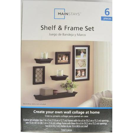 Mainstays 6-Piece Shelf and Frame Set, Black - Walmart.com