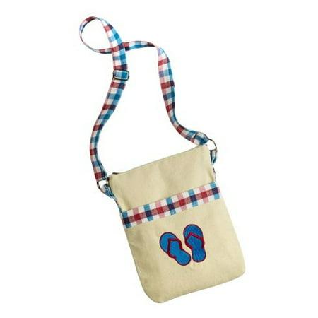 Embroidered Crossbody Bag (Flip Flops) - Novelty Purses