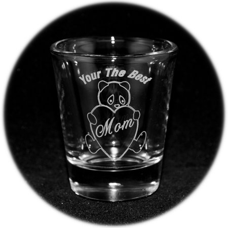 2oz Your The Best Mom with Panda Bear Shot Glass