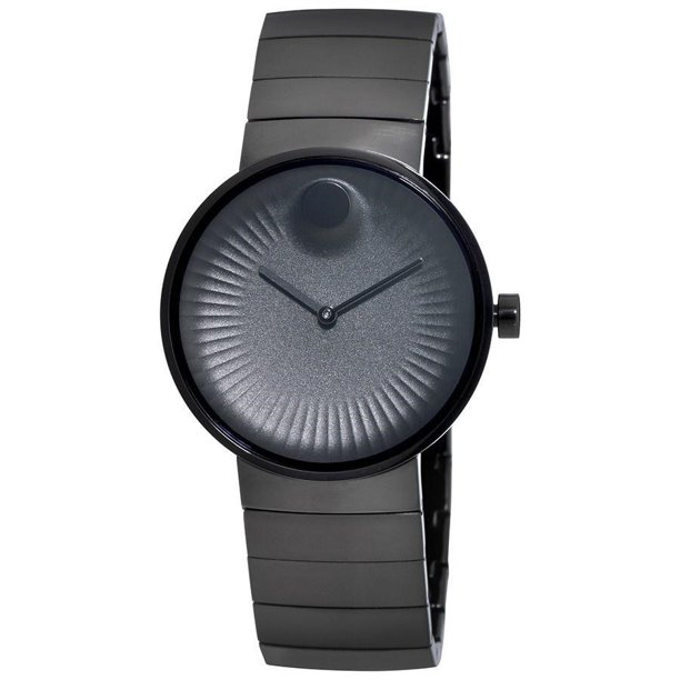 Movado Edge Black Aluminum Dial Black Ion-plated Men's Watch