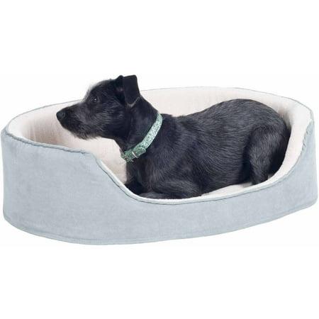 Petmaker Grey Cuddle Round Suede Pet Bed ()