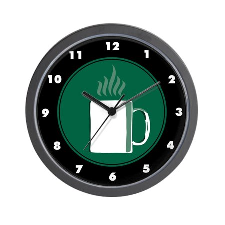 Cafepress coffee themed unique decorative 10 wall clock - Coffee themed wall clocks ...