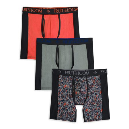 8b2a4640 Fruit of the Loom - Men's Breathable with Ultra Flex Boxer Briefs, 3 Pack -  Walmart.com
