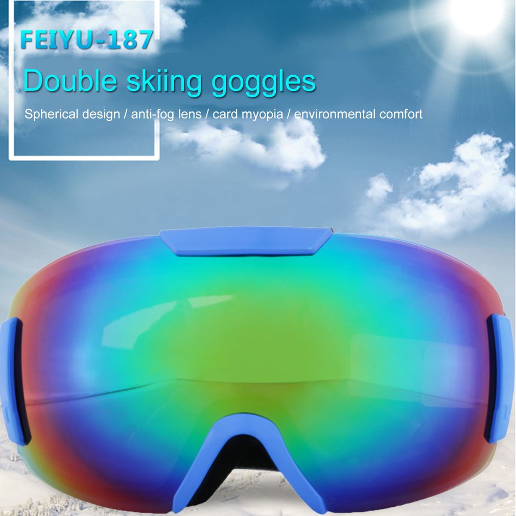 Feiyu 187 Double Layers Windproof Sunglasses Ski Goggles Glasses Eyewear Outdoor Sports Riding Skating Skiing... by