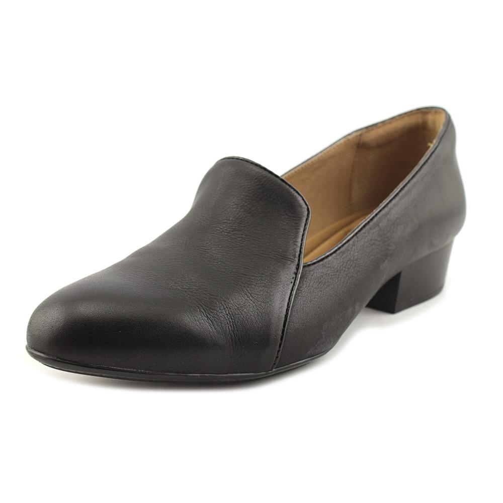 Sofft Begonia Women Round Toe Leather Black Loafer by Sofft