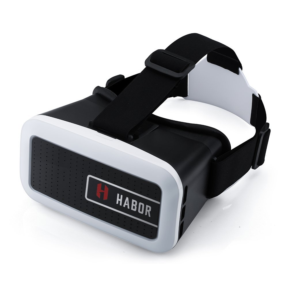 Habor 3D VR Virtual Reality Headset for smartphones for 3D Movies/Games (Black)