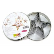 Scrapcooking 2018 Set Of 6 Stainless Steel Stars cutters