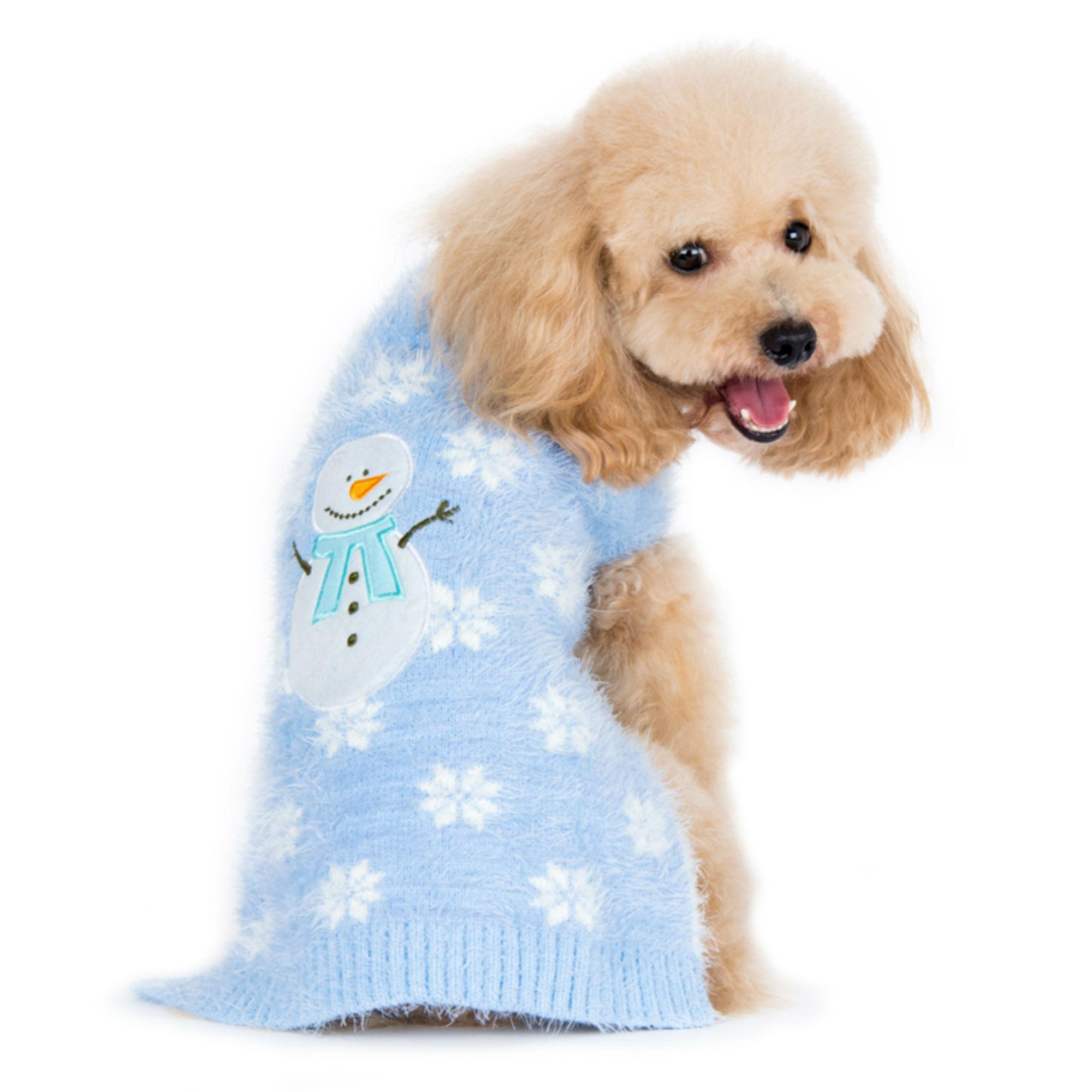 Puppypawer Snowman Dog Sweater By Dogo Blue Xx Large Walmart Com