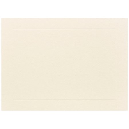 Ivory Flat Card - JAM Paper Flat Note Cards, 4 5/8 x 6 1/4, Ivory Panel, 500/box
