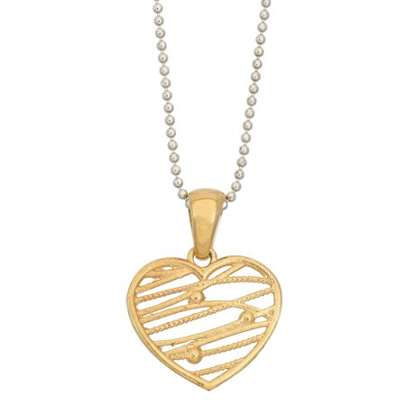 Abstract Heart Necklace - Isla Simone  14K Gold, Rose Gold, or Rhodium Plated Silver Abstract Heart Pendant Necklace