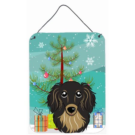 Carolines Treasures BB1586DS1216 Christmas Tree And Longhair Red Dachshund Wall and Door Hanging Prints - image 1 of 1