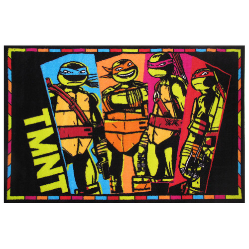 "Fun Rugs Nickelodeon Ninja Turtles TMNT Kids Rugs 19"" x 29"" Rug"