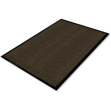Genuine Joe Gold Dual-Rib Hard Surface Floor Mat, 72u0022 x 48u0022, Chocolate, GJO02401
