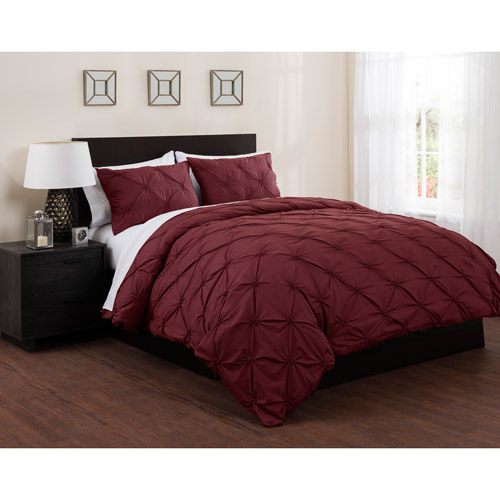 East End Living Pintuck Diamonds Duvet Cover and Sheet Bedding Set