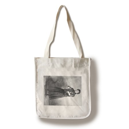 Myrtle Rowe with Mitt, Baseball Photo (100% Cotton Tote Bag - Reusable)