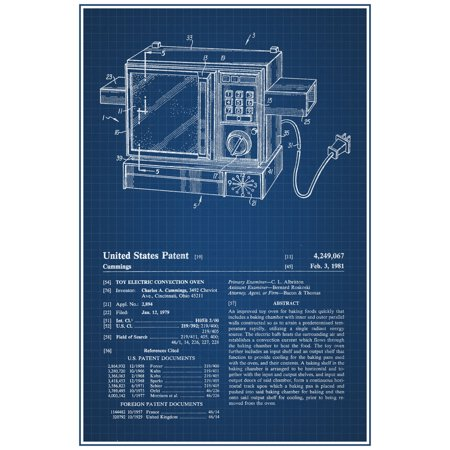 Easy bake oven retro toy official patent blueprint poster 12x18 easy bake oven retro toy official patent blueprint poster 12x18 inch malvernweather Choice Image