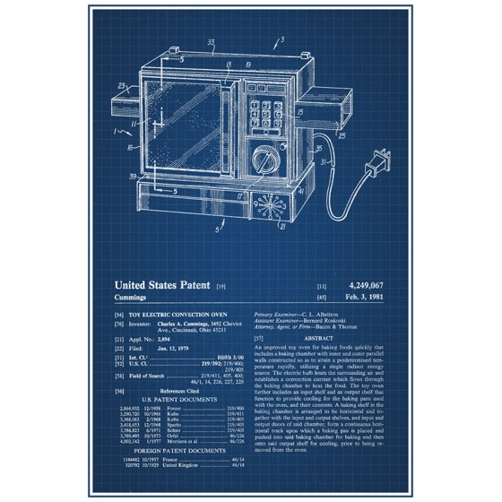 Easy bake oven retro toy official patent blueprint poster 12x18 easy bake oven retro toy official patent blueprint poster 12x18 inch malvernweather Images