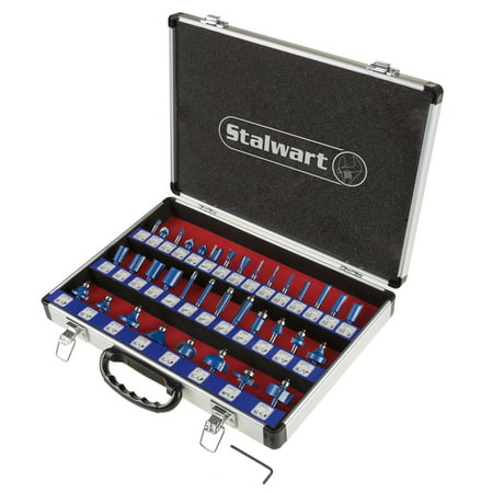 Stalwart Router Bit Set With 35-Piece Kit And 1/4-Inch Shank And Storage Case Beading Router Bit Set