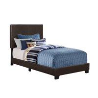 "81"" Matte Brown Contemporary Rectangular Bed Frame - Twin Size"