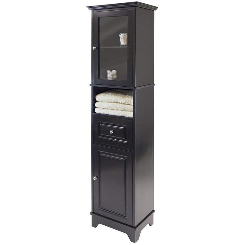 Bowery Hill Tall Bathroom Storage, Black Bathroom Storage Cabinet
