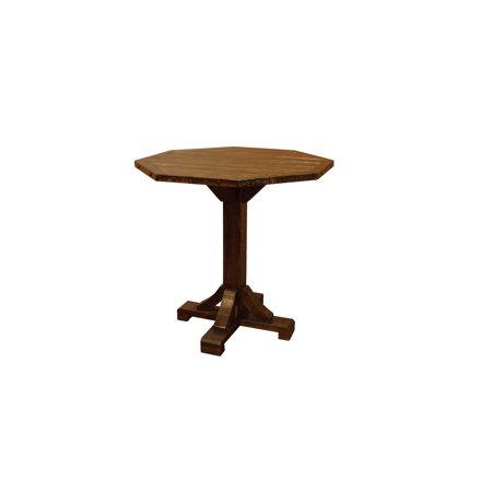 Furniture Barn USA™ Barn Wood Style Timber Peg Bistro Table - Counter Height ()