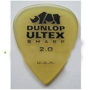 Dunlop Ultex Sharp Guitar Picks - 2.0 mm - Pack of 6