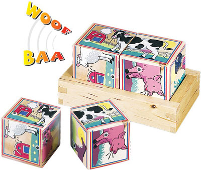 Wooden Farm Sound Blocks by Melissa %26 Doug