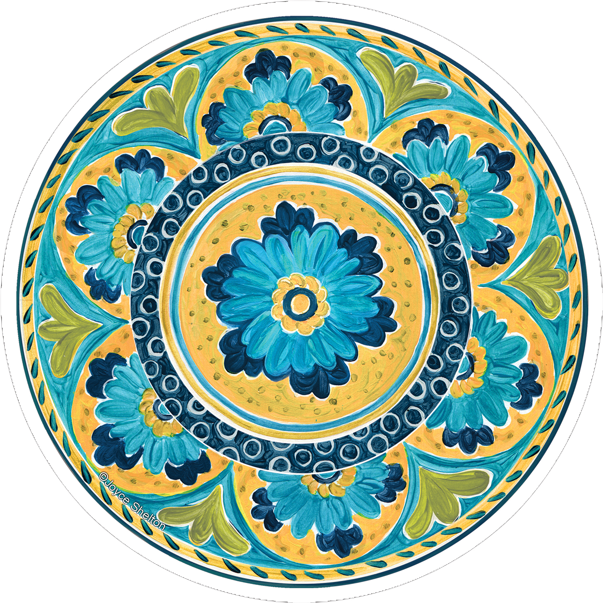 Thirstystone Occasions Drink Coaster Set, Mexican Tile