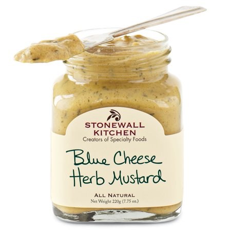 Stonewall Kitchen Blue Cheese Herb Mustard, 7.75 Ounce Jar Blue Danube Cheese