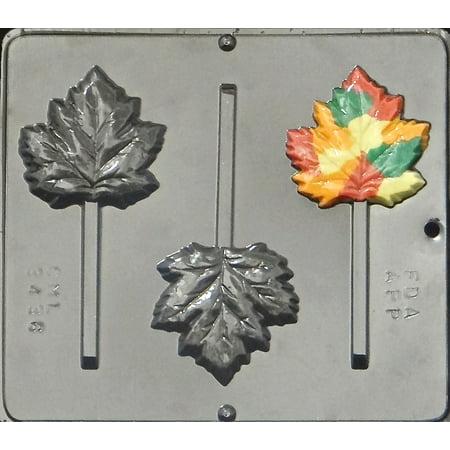 3436 Maple Leaf/Fall/Autumn Lollipop Chocolate Candy Mold