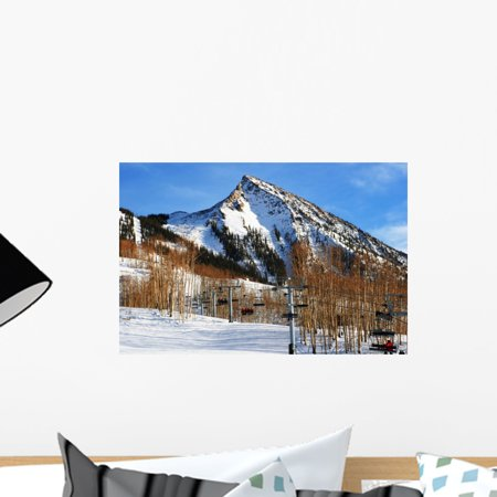 Crested Butte Ski Area Wall Mural by Wallmonkeys Peel and Stick Graphic (18 in W x 12 in H) WM52371 Crested Butte Ski