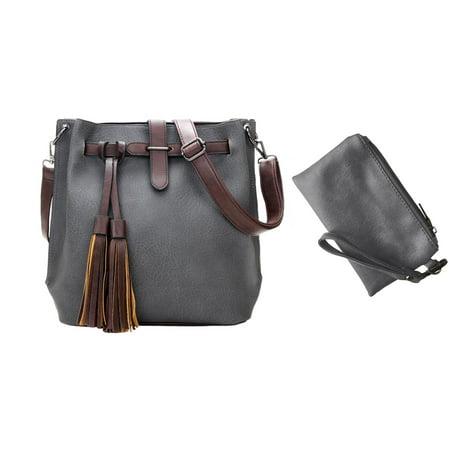 Brock Fashion Designer Messenger Crossbody Shoulder Bag Handbag With Free Coin Purse, (Ferragamo Designer Handbags)